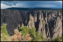Approaching storm from Gunnison point. Black Canyon of the Gunnison National Park, Colorado, USA. (color)
