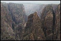 Storm light over canyon. Black Canyon of the Gunnison National Park, Colorado, USA. (color)