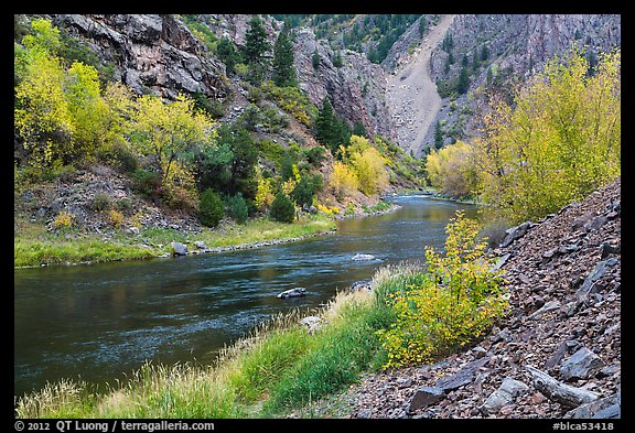 Gunnison river in fall, East Portal. Black Canyon of the Gunnison National Park (color)