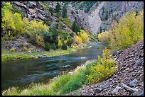 Gunnison river in fall, East Portal. Black Canyon of the Gunnison National Park, Colorado, USA. (color)