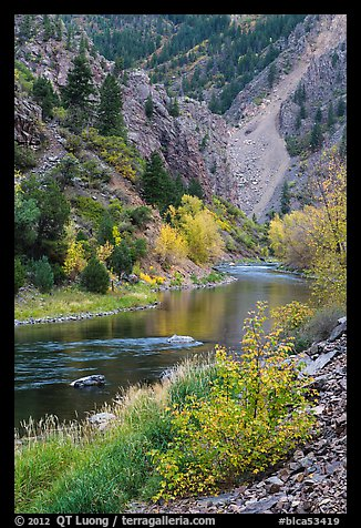 Gunnison river in autumn, East Portal. Black Canyon of the Gunnison National Park (color)