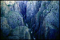 Deep and narrow gorge seen from Chasm view. Black Canyon of the Gunnison National Park ( color)