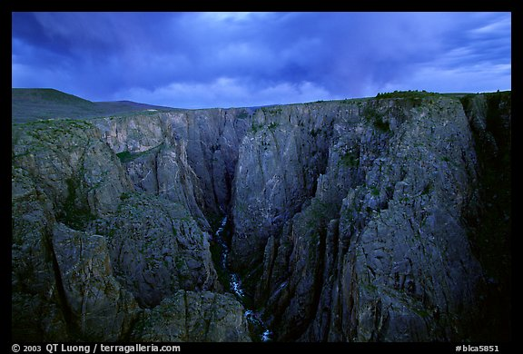 The Narrows seen from Chasm view at sunset. Black Canyon of the Gunnison National Park (color)