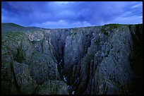 The Narrows seen from Chasm view at sunset. Black Canyon of the Gunnison National Park, Colorado, USA. (color)