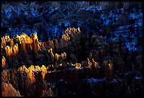 Light and shadows, from Sunset Point, late afternoon. Bryce Canyon National Park, Utah, USA.