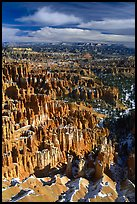 Silent City in Bryce Amphitheater from Bryce Point, morning. Bryce Canyon National Park, Utah, USA. (color)