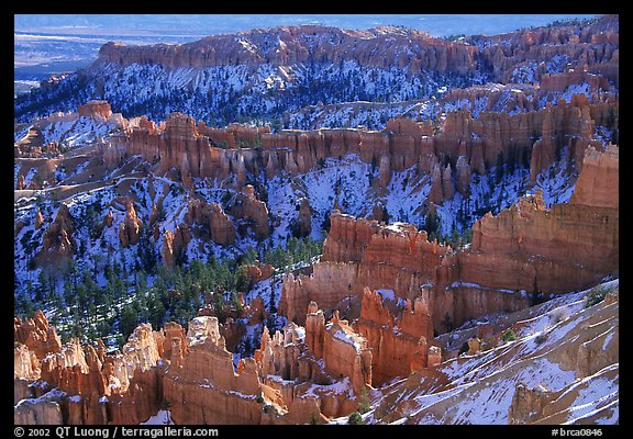 Hoodoos and blue snow from Inspiration Point. Bryce Canyon National Park (color)