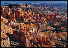 View of Queens Garden spires from Sunset Point, morning. Bryce Canyon National Park ( color)
