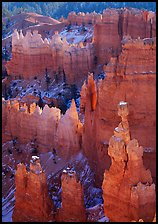 Thor's Hammer, mid-morning. Bryce Canyon National Park, Utah, USA. (color)