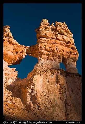 Openings through hoodoos. Bryce Canyon National Park (color)
