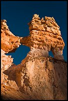 Openings through hoodoos. Bryce Canyon National Park, Utah, USA. (color)