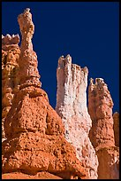 Hoodoos subject to chemical weathering by carbonic acid. Bryce Canyon National Park ( color)