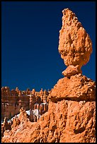 Balanced rock in pink limestone. Bryce Canyon National Park ( color)