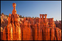 Thor Hammer and Temple of Osiris. Bryce Canyon National Park, Utah, USA. (color)
