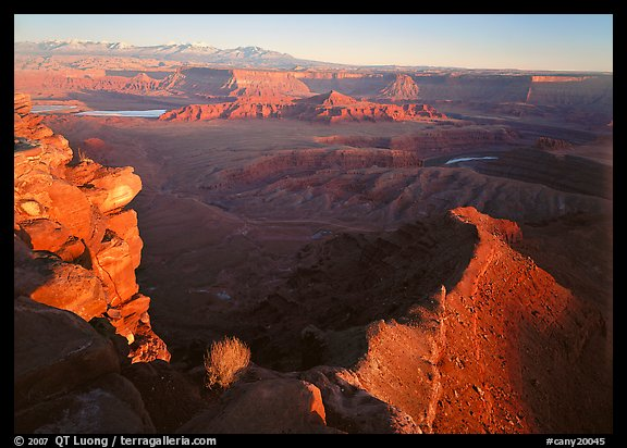 Dead Horse point at sunset. Canyonlands National Park (color)