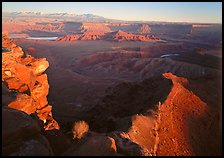 Dead Horse point at sunset. Canyonlands National Park ( color)