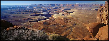 Canyon scenery, Island in the Sky. Canyonlands National Park (Panoramic color)