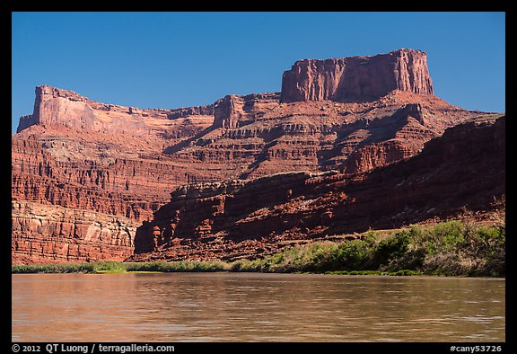 Dead Horse point seen from Colorado River. Canyonlands National Park (color)