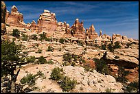 Spires and pinnacles, Dollhouse. Canyonlands National Park ( color)