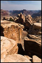 Fractured rocks, Surprise Valley, and Colorado River. Canyonlands National Park ( color)