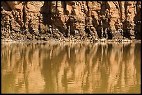 Cliffs reflections, Colorado River. Canyonlands National Park ( color)