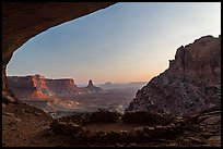 False Kiva ruin at sunset. Canyonlands National Park, Utah, USA. (color)