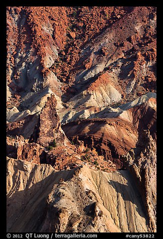 Colorful rocks in Upheaval Dome. Canyonlands National Park (color)