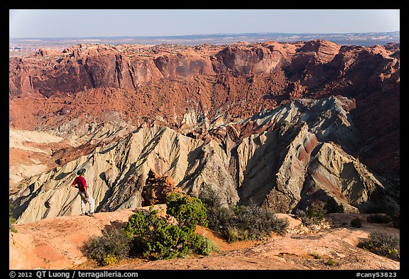 Person looking, Upheaval Dome. Canyonlands National Park (color)
