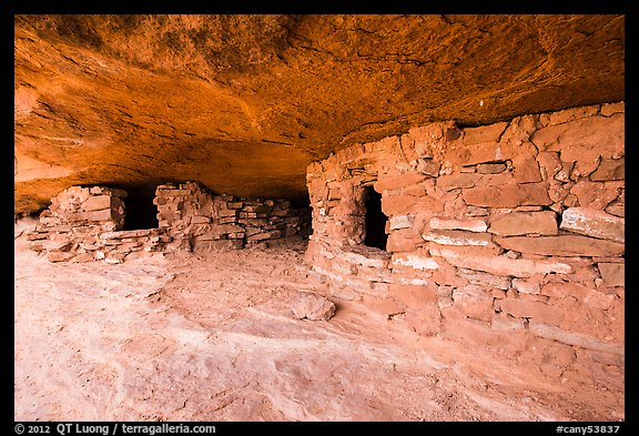 Granary ruins on Aztec Butte. Canyonlands National Park (color)