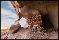 Granary and natural rock arch, Aztec Butte. Canyonlands National Park ( color)