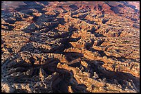Aerial view of the Maze. Canyonlands National Park, Utah, USA. (color)