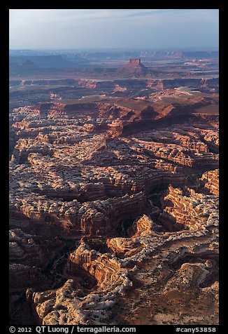 Aerial view of Maze District. Canyonlands National Park (color)