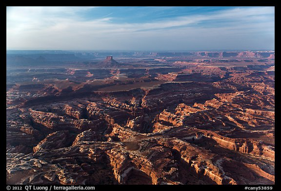 Aerial view of Maze area. Canyonlands National Park (color)