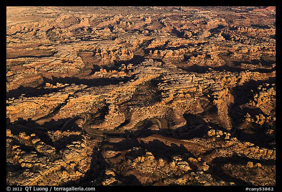 Aerial view of Needles District. Canyonlands National Park (color)