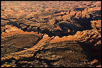 Aerial view of Needles. Canyonlands National Park, Utah, USA. (color)
