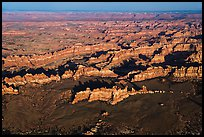 Aerial view of Chesler Park. Canyonlands National Park, Utah, USA. (color)