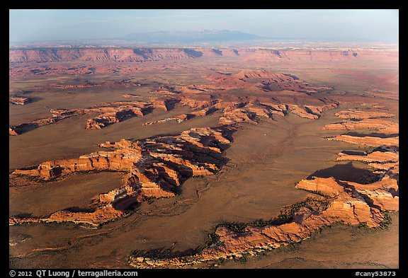 Aerial view of Squaw Flats, Needles. Canyonlands National Park (color)