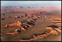 Aerial view of Squaw Flats, Needles. Canyonlands National Park, Utah, USA. (color)