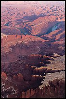 Aerial view of Monument Basin. Canyonlands National Park ( color)