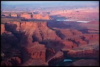 Aerial view of Dead Horse Point. Canyonlands National Park, Utah, USA. (color)