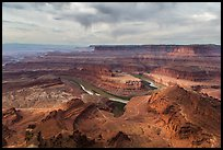 Dead Horse Point view with virgas. Canyonlands National Park ( color)