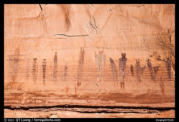 Harvest Scene pictograph panel. Canyonlands National Park (color)