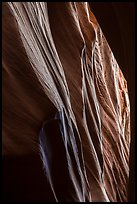 Sandstone carved by water, High Spur slot canyon, Orange Cliffs Unit, Glen Canyon National Recreation Area, Utah. USA (color)