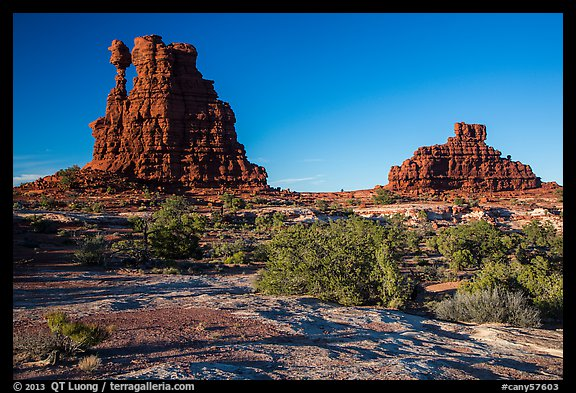 The Eternal Flame, late afternoon, land of Standing rocks. Canyonlands National Park (color)