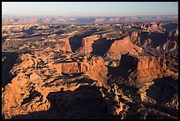 Aerial View of mesas, Island in the Sky district. Canyonlands National Park, Utah, USA. (color)