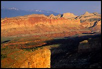 Waterpocket Fold from Sunset Point in storm light at sunset. Capitol Reef National Park ( color)