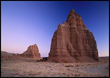 Temples of the Sun and Moon, dawn. Capitol Reef National Park, Utah, USA.