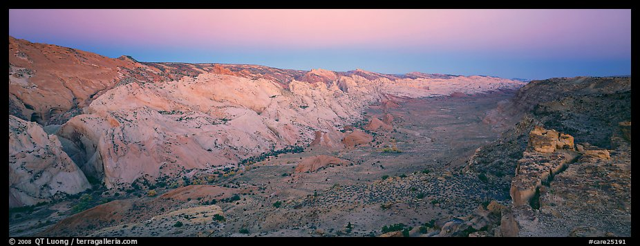 Waterpocket fold in pastel hues at dawn. Capitol Reef National Park (color)