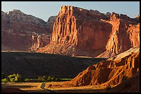 Cliffs near Fruita at sunset. Capitol Reef National Park ( color)