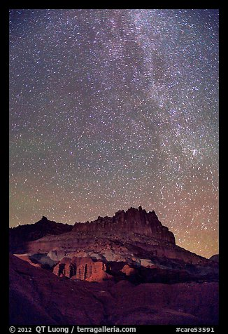 Castle by night. Capitol Reef National Park (color)